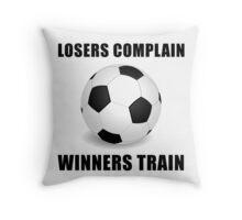 Soccer Winners Train Throw Pillow