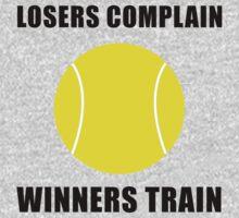 Tennis Winners Train Baby Tee