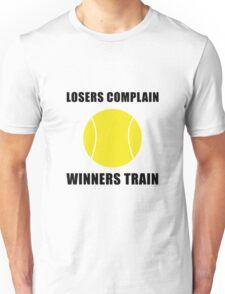 Tennis Winners Train Unisex T-Shirt