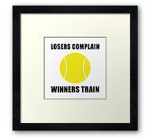 Tennis Winners Train Framed Print