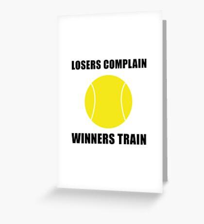 Tennis Winners Train Greeting Card