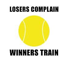 Tennis Winners Train Photographic Print