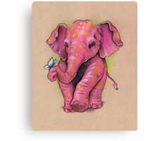 Pink Elephant (with golden spots) Canvas Print