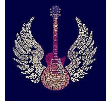 Lynyrd Skynyrd Free Bird Guitar Lyrics Photographic Print