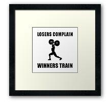 Weightlifting Winners Train Framed Print