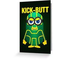 Kick-Butt Minion Greeting Card