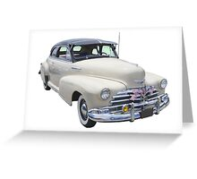 1948 Chevrolet Fleetmaster Antique Car Greeting Card