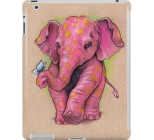 Pink Elephant (with golden spots) iPad Case/Skin