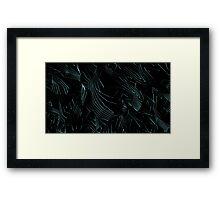 Neon Terrain Framed Print