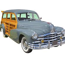 1948 Pontiac Silver Streak Woody Antique Car by KWJphotoart