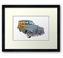 1948 Pontiac Silver Streak Woody Antique Car Framed Print