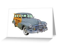 1948 Pontiac Silver Streak Woody Antique Car Greeting Card