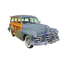 1948 Pontiac Silver Streak Woody Antique Car Photographic Print