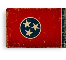 Tennessee State Flag VINTAGE Canvas Print