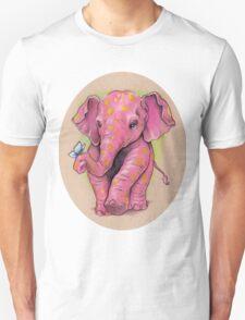 Pink Elephant (with golden spots) Unisex T-Shirt