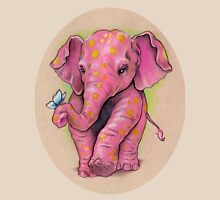 Pink Elephant (with golden spots) Unisex T-Shirt
