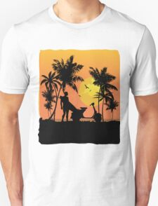 Surfer and scooter at Sunset Unisex T-Shirt