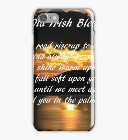 An old Irish Blessing #7 iPhone Case/Skin