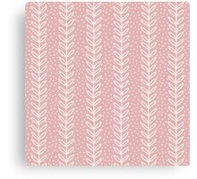 Simple leaf seamless pattern. Hand drawn pink background. Cute wallpaper. Canvas Print