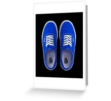 Vans - Blue Greeting Card