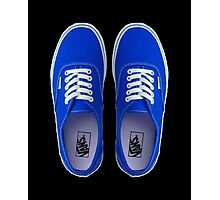 Vans - Blue Photographic Print