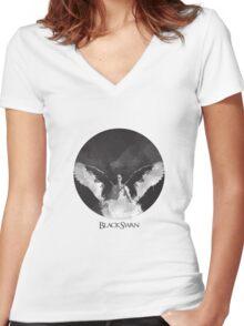 Black Swan- Nina Women's Fitted V-Neck T-Shirt