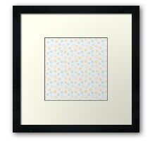 Simple cute pastel pattern. Floral mint seamless kids background.  Framed Print