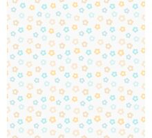 Simple cute pastel pattern. Floral mint seamless kids background.  Photographic Print