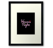 Heaven's Night Framed Print