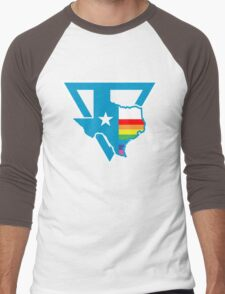 texas rainbow triangle Men's Baseball ¾ T-Shirt