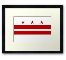 Washington DC Flag Framed Print