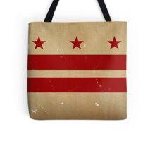 Washington DC Flag VINTAGE Tote Bag