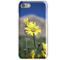Wildflowers in front of mountains iPhone Case/Skin