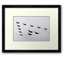The Red arrows with the Typhoons and the F35 Framed Print