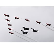 The Red arrows with the Typhoons and the F35 Photographic Print