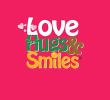Pink Love Hugs & Smiles Womens Fitted T-Shirt
