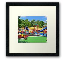 Rainbow Playground 2 Framed Print