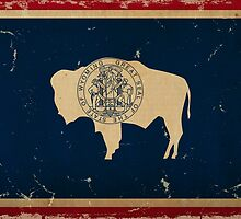 Wyoming State Flag VINTAGE by Carolina Swagger