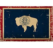Wyoming State Flag VINTAGE Photographic Print