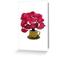 Cherry  Blossom in Mug Greeting Card