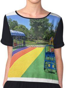 Rainbow Playground 3 Chiffon Top