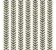 Simple green leaf seamless pattern. Hand drawn natural background.  Photographic Print