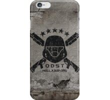 ODST Helljumpers (Black Scratched) iPhone Case/Skin
