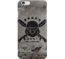 ODST Helljumpers (Black Distressed) iPhone Case/Skin