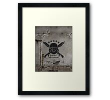ODST Helljumpers (Black Scratched) Framed Print