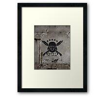 ODST Helljumpers (Black Scratched) Framed Print