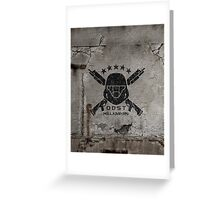 ODST Helljumpers (Black Scratched) Greeting Card