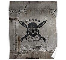 ODST Helljumpers (Black Scratched) Poster