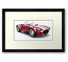 Cobra vintage sport car Framed Print