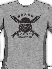 ODST Helljumpers (Black Scratched) T-Shirt